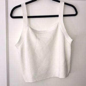 White H&M cropped tank top sweater size L